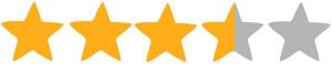 3,5 hvezdy
