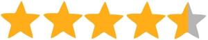4,5 hvezdy